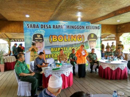 Saba Desa Rapat Minggon Keliling (Boling) Bupati di Kecamatan Jonggol